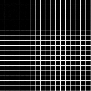 "black and white windowpane grid 1"" reversed square check graph paper"