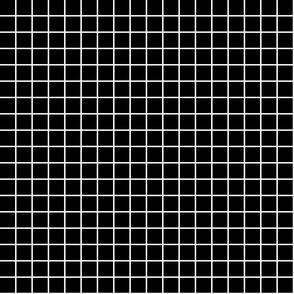 "black and white windowpane grid 1"" reversed square check graph paper"
