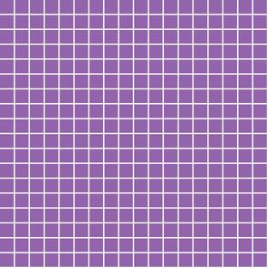 "amethyst purple windowpane grid 1"" reversed square check graph paper"