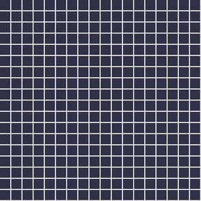 "midnight blue windowpane grid 1"" reversed square check graph paper"