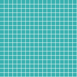 "teal windowpane grid 1"" reversed square check graph paper"