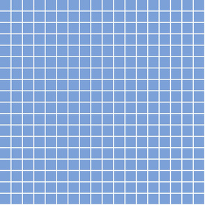 "cornflower blue windowpane grid 1"" reversed square check graph paper"
