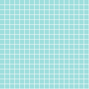 "light teal windowpane grid 1"" reversed square check graph paper"