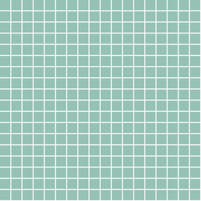 "faded teal windowpane grid 1"" reversed square check graph paper"