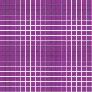 """grape purple windowpane grid 1"""" reversed square check graph paper"""