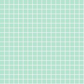 "mint green windowpane grid 1"" reversed square check graph paper"