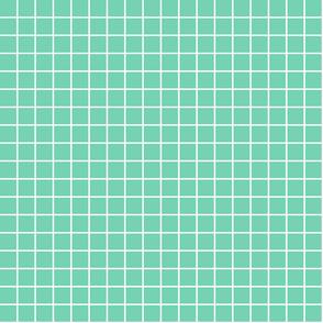 """sea foam green windowpane grid 1"""" reversed square check graph paper"""
