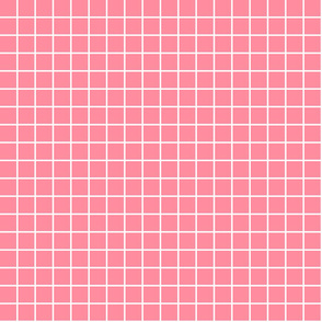 "pretty pink windowpane grid 1"" reversed square check graph paper"