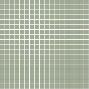 "sage green windowpane grid 1"" reversed square check graph paper"