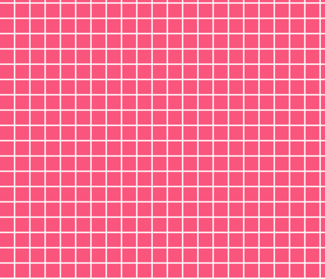 "hot pink windowpane grid 1"" reversed square check graph paper fabric by misstiina on Spoonflower - custom fabric"