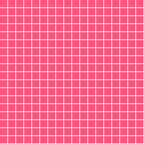 "hot pink windowpane grid 1"" reversed square check graph paper"
