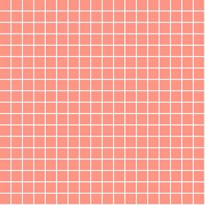 """peach windowpane grid 1"""" reversed square check graph paper"""