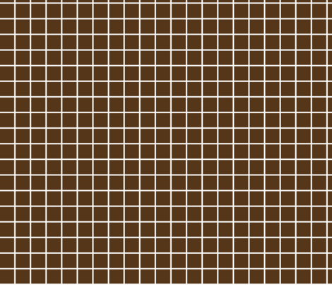 """brown windowpane grid 1"""" reversed square check graph paper fabric by misstiina on Spoonflower - custom fabric"""