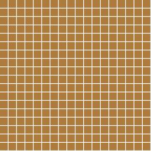 "caramel windowpane grid 1"" reversed square check graph paper"