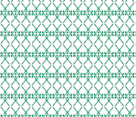 Hockey Sticks-green hues fabric by manjula on Spoonflower - custom fabric