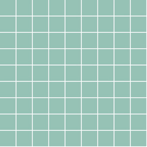 "faded teal windowpane grid 2"" reversed square check graph paper"