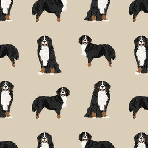 Bernese Mountain Dog dog breed fabric pet lovers sewing projects tan