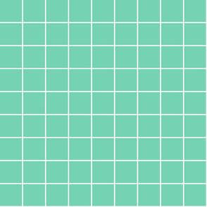 """sea foam green windowpane grid 2"""" reversed square check graph paper"""