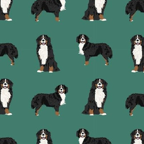 Bernese Mountain Dog dog breed fabric pet lovers sewing projects green