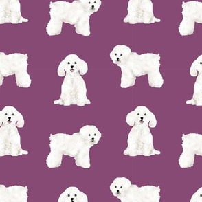 bichon frise dog breed fabric pet lovers sewing projects purple