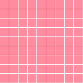 "pretty pink windowpane grid 2"" reversed square check graph paper"