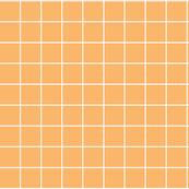 "mango orange windowpane grid 2"" reversed square check graph paper"