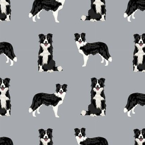 border collie dog breed fabric pet lovers sewing projects grey