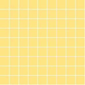 "sunshine yellow windowpane grid 2"" reversed square check graph paper"