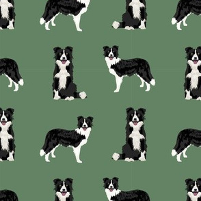 border collie dog breed fabric pet lovers sewing projects green