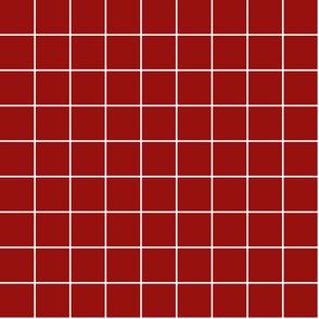 "dark red windowpane grid 2"" reversed square check graph paper"