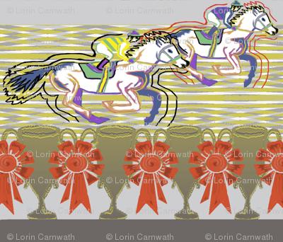 Horse Race stripe grey stripes