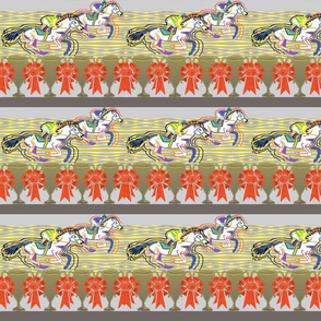 Horse Race stripe grey stripes