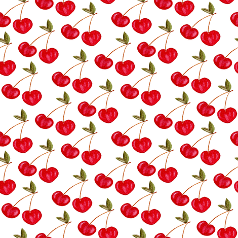 Sweety Cherry fabric by worldion on Spoonflower - custom fabric