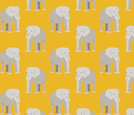 elephant pattern  fabric by dafnag on Spoonflower - custom fabric
