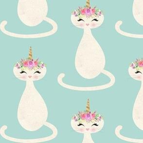 Caticorn – Cute Unicorn Cat (mint) LARGE size