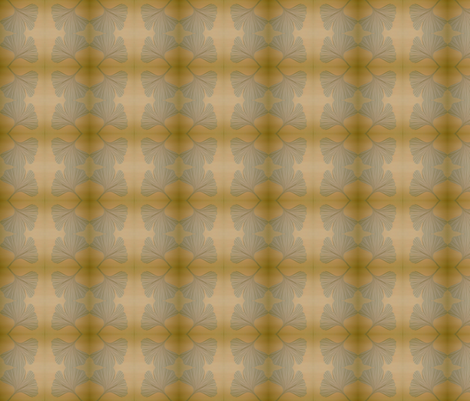 fall gold gingko fabric by the_simple_hive on Spoonflower - custom fabric