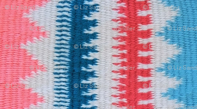 Pink, Blue, Red and White Pattern Play