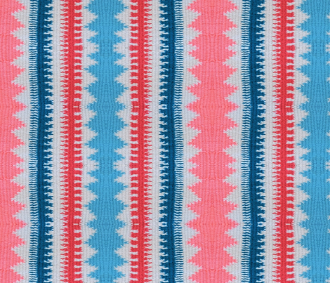 Pink, Blue, Red and White Pattern Play fabric by liz_sandler on Spoonflower - custom fabric