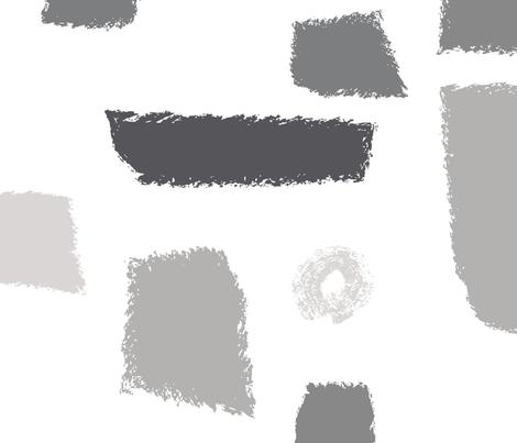 50s Vibes Grey symphony white BG fabric by moxilla on Spoonflower - custom fabric