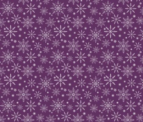 Snowflakes - plum fabric by gingerlous on Spoonflower - custom fabric