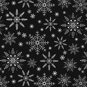 Snowflakes - black
