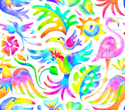 Tropical Bird Bash Large Print