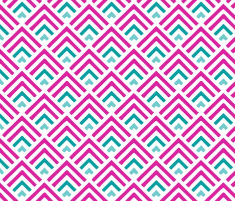 Pink Geo Sofia fabric by kateygzz on Spoonflower - custom fabric