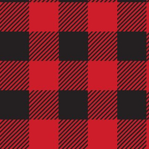 Buffalo Red Black Plaid Check