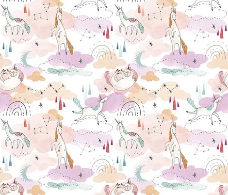 Unicorn Dreams fabric by little_pine_artistry on Spoonflower - custom fabric