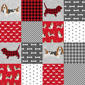 basset hound pet quilt a cheater quilt dog breed fabric wholecloth
