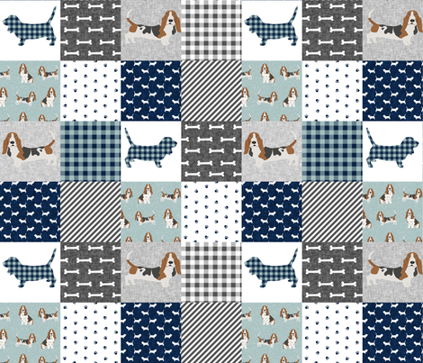 basset hound pet quilt b cheater quilt dog breed fabric wholecloth fabric by petfriendly on Spoonflower - custom fabric