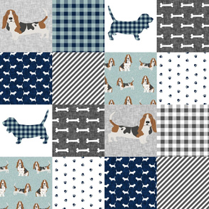 basset hound pet quilt b cheater quilt dog breed fabric wholecloth