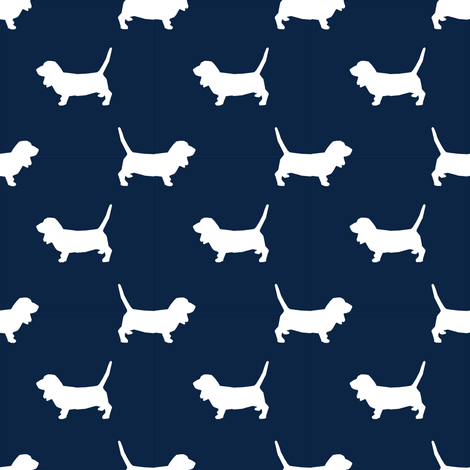 basset hound pet quilt b silhouette dog breed fabric coordinate fabric by petfriendly on Spoonflower - custom fabric