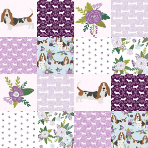 basset hound pet quilt c cheater quilt dog breed fabric wholecloth